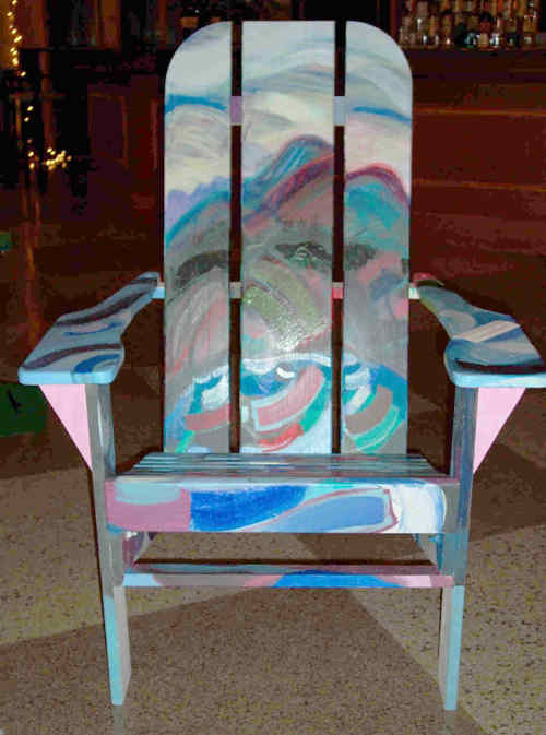 Gallery Of Unique Adirondack Chairs Adirondack Art Chairs   An Exhibition U0026  Auction   Lake Placid Center For The Arts